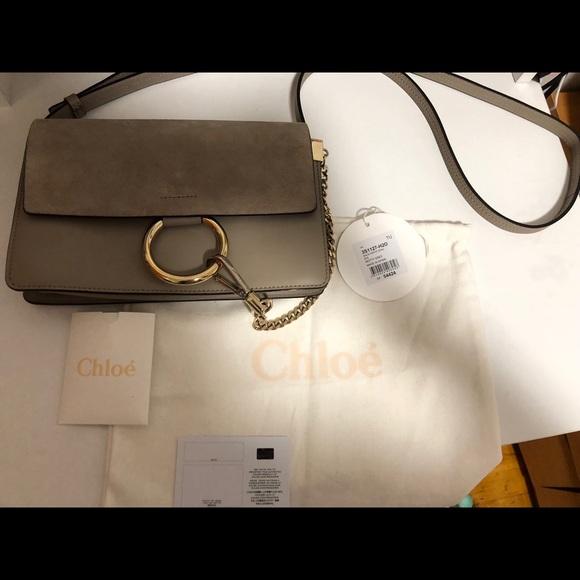bbfcab522e99 Chloe Handbags - USED Chloe faye small shoulder bag MOTT GREY